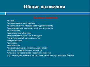 Базовые понятия: нация национальное государство национальное самосознание (ид