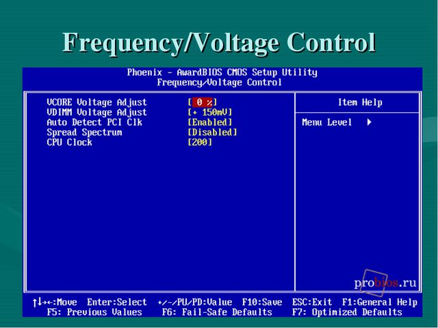 Frequency/Voltage Control