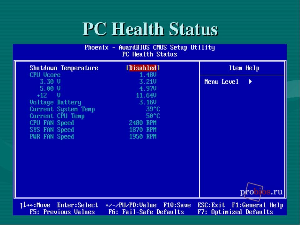 PC Health Status