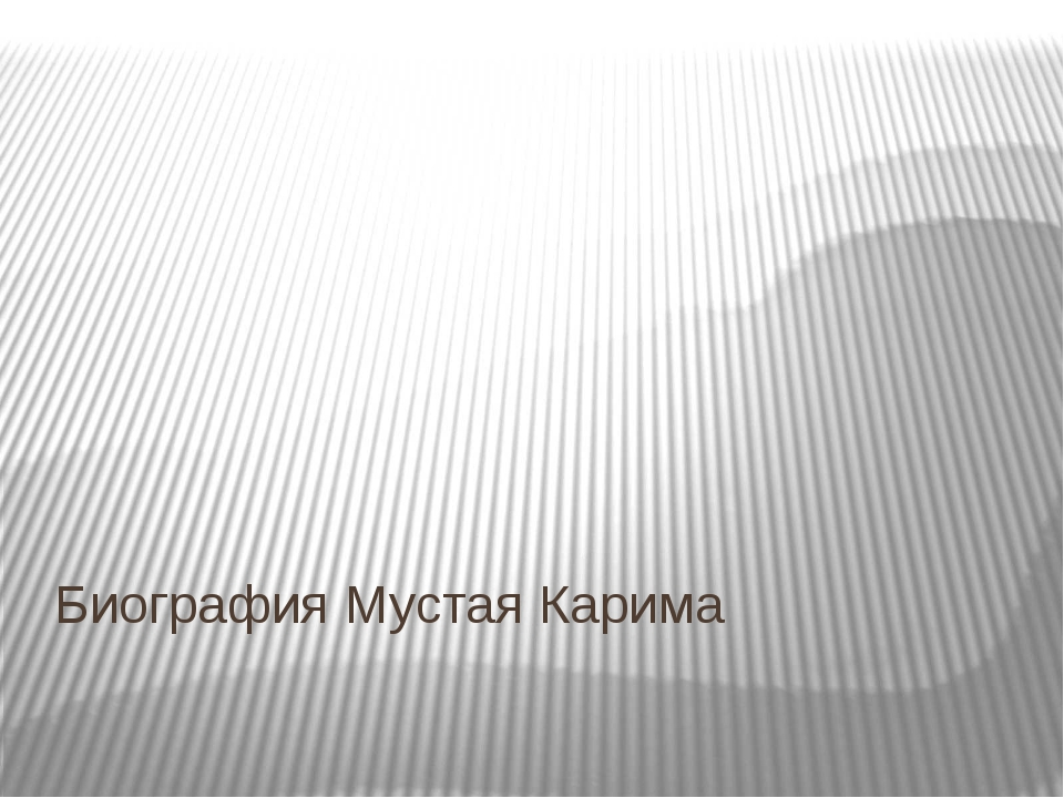 Биография Мустая Карима