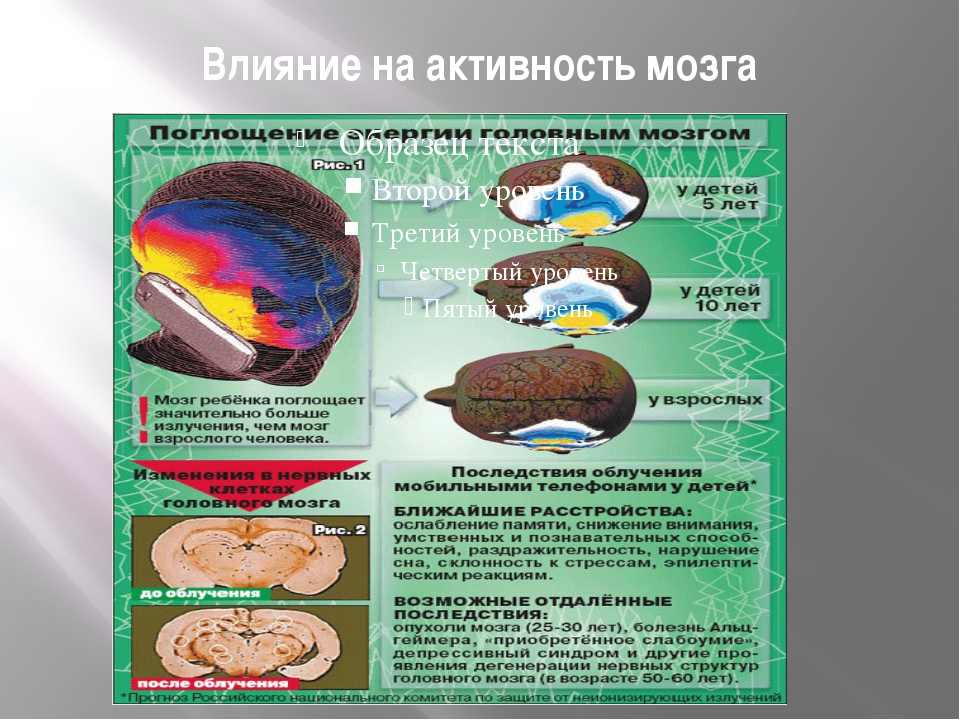 Влияние на активность мозга