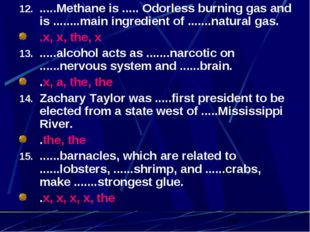 .....Methane is ..... Odorless burning gas and is ........main ingredient of