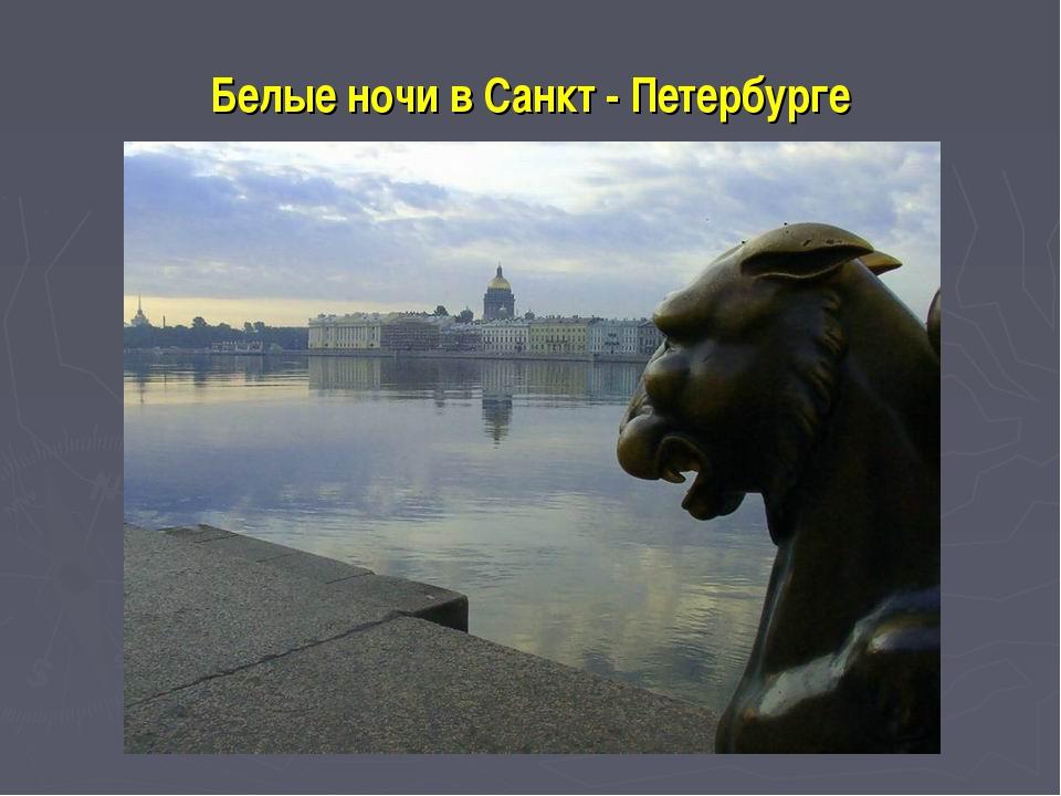 Белые ночи в Санкт - Петербурге