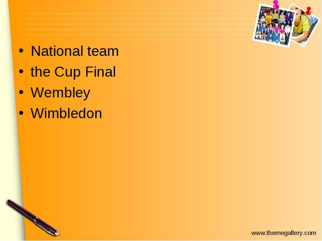 National team the Cup Final Wembley Wimbledon www.themegallery.com