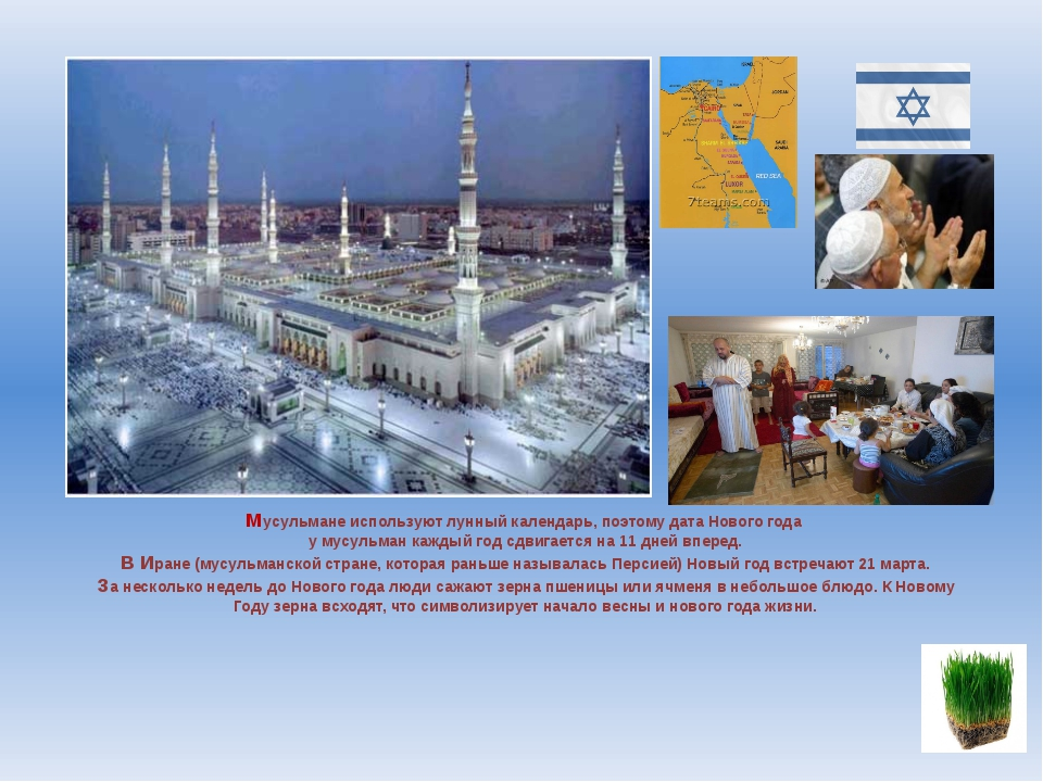 Мусульмане используют лунный календарь, поэтому дата Нового года у мусульман...