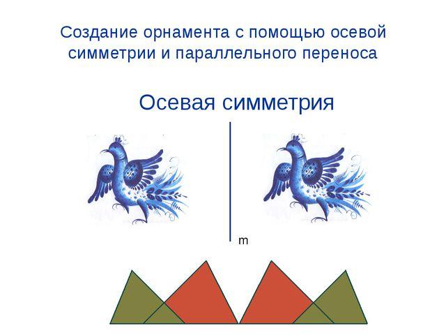 Создание орнамента с помощью осевой симметрии и параллельного переноса Осевая...