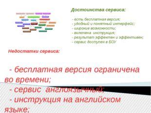 Достоинства сервиса: - есть бесплатная версия; - удобный и понятный интерфей