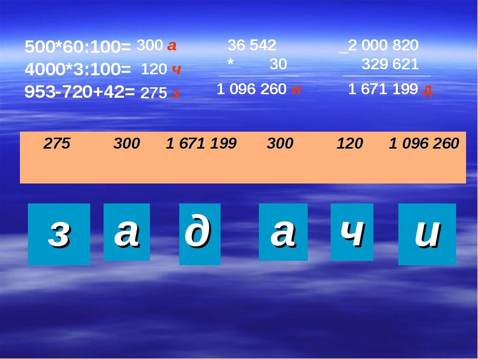 500*60:100= 4000*3:100= 953-720+42= 36 542 * 30 _2 000 820 329 621 300 а 120...