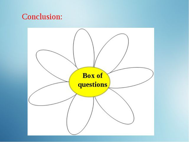 Box of questions Conclusion: