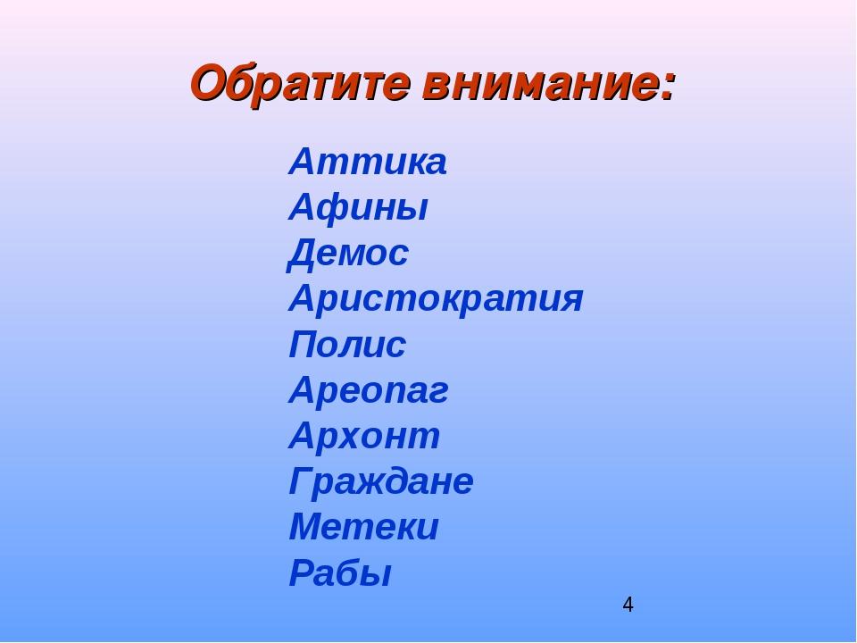 Обратите внимание: Аттика Афины Демос Аристократия Полис Ареопаг Архонт Гражд...