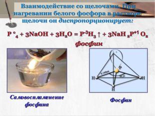 Самовоспламенение фосфина Фосфин