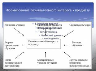 Формирование познавательного интереса к предмету