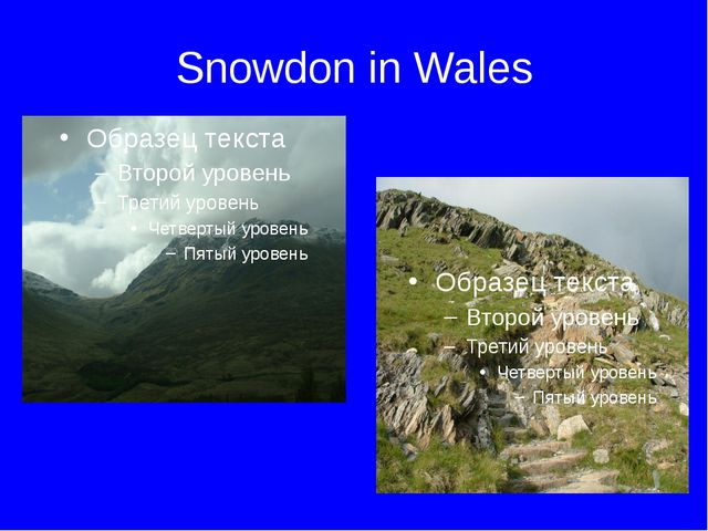 Snowdon in Wales