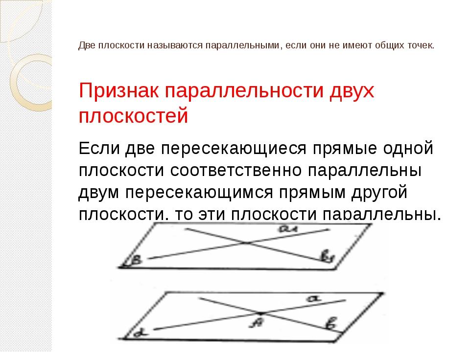 Свойства параллельных плоскостей 1) Если две параллельные плоскости пересечен...