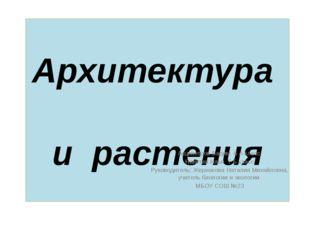 Архитектура и растения Акципетров Вадим 6 А класс, Никитин Илья 7 Б класс Рук