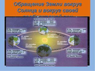 Обращение Земли вокруг Солнца и вокруг своей воображаемой оси