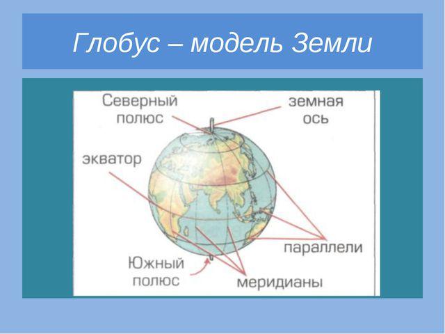 Глобус – модель Земли