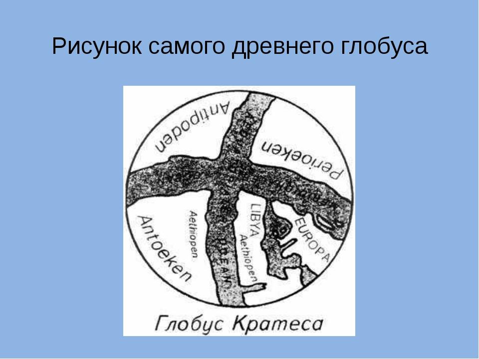Рисунок самого древнего глобуса