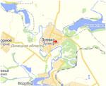 Карта пгт Зуевка г. Харцызск Донецкой области