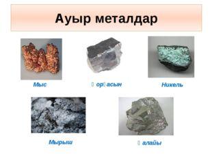 Ауыр металдар Мыс Никель Қорғасын Қалайы Мырыш