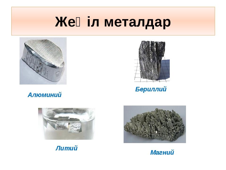 Жеңіл металдар Алюминий Магний Бериллий Литий