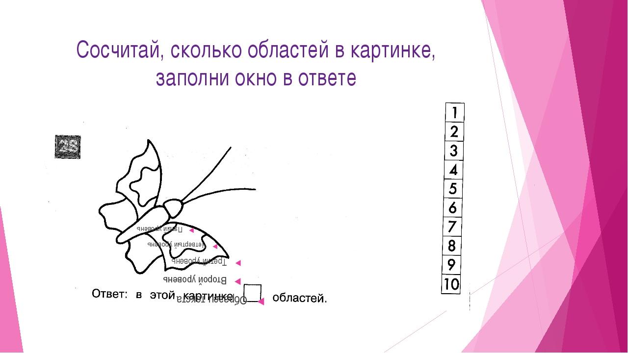 Сосчитай, сколько областей в картинке, заполни окно в ответе