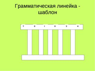 Грамматическая линейка - шаблон