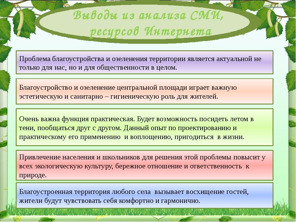 Проблема благоустройства и озеленения территории являетсяактуальной не толь...