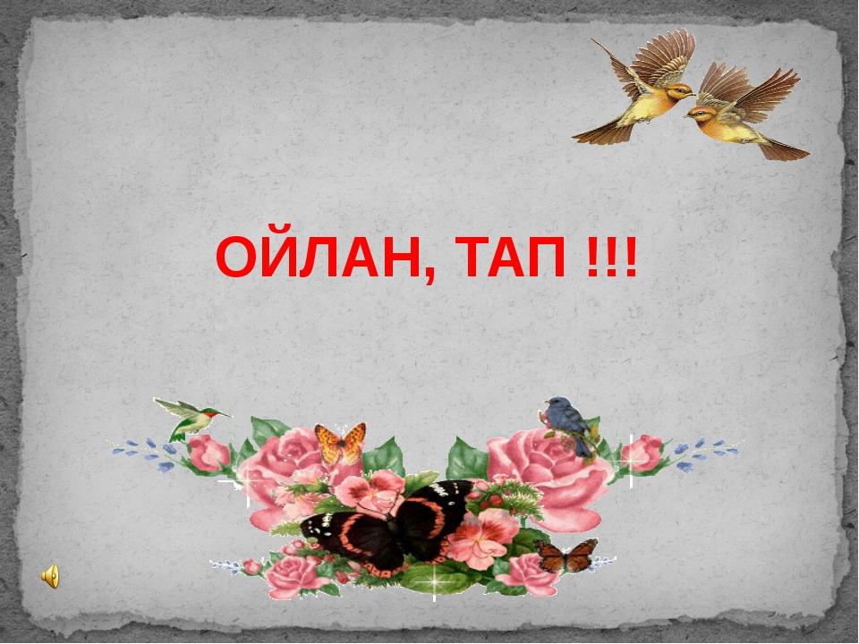 ОЙЛАН, ТАП !!!