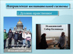 Направления воспитательной системы: 2. Духовно-нравственное Санкт-Петербург: