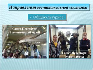 Направления воспитательной системы: 4. Общекультурное Санкт-Петербург. Зоолог