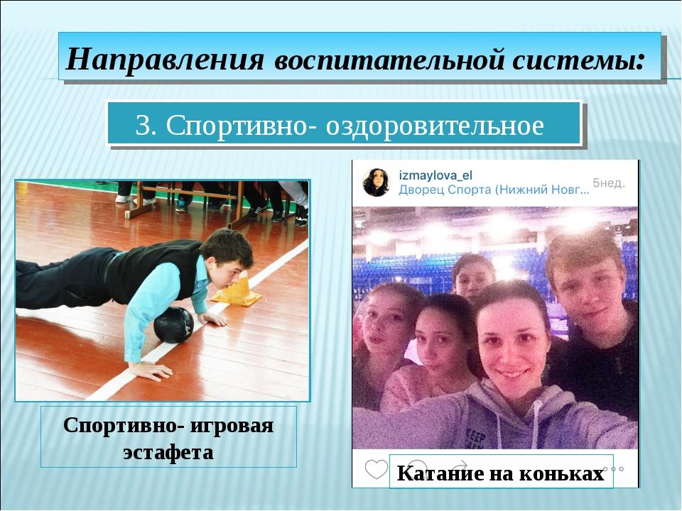 Направления воспитательной системы: 3. Спортивно- оздоровительное Спортивно-...