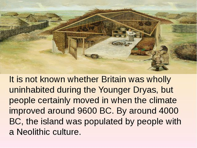 It is not known whether Britain was wholly uninhabited during the Younger Dr...