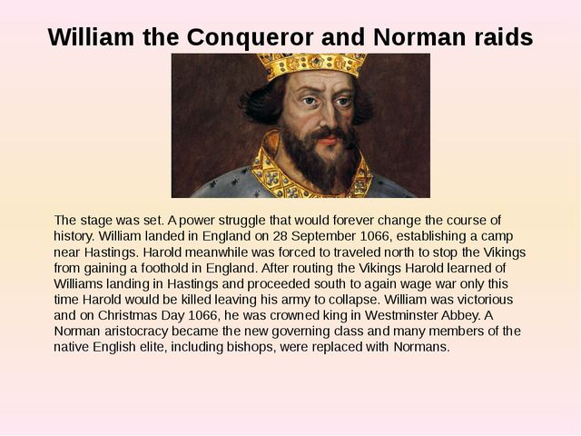 william the conqueror s importance in history William the conqueror and the feudal system william's father died in 1035, william the conqueror a people's history of england (1938) page 47 (14.