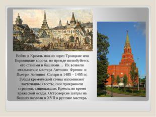Войти в Кремль можно через Троицкие или Боровицкие ворота, но прежде полюбуй