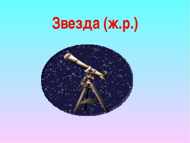 Звезда (ж.р.)