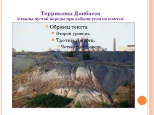 Терриконы Донбасса (отвалы пустой породы при добычи угля на шахтах)