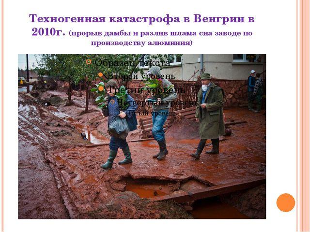 Техногенная катастрофа в Венгрии в 2010г. (прорыв дамбы и разлив шлама сна за...
