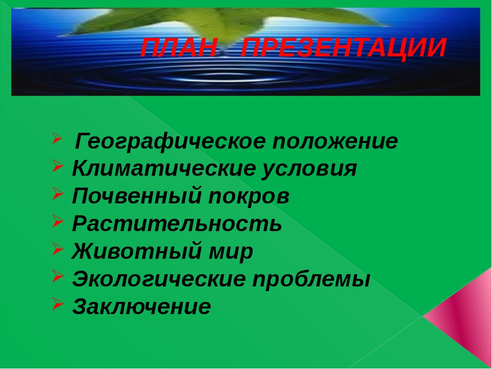 ПЛАН ПРЕЗЕНТАЦИИ Географическое положение Климатические условия Почвенный по...
