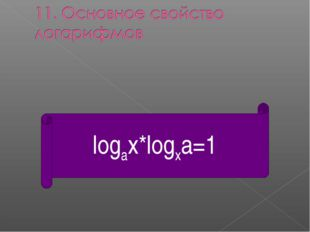 logax*logxa=1