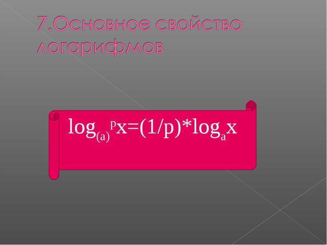 log(a)px=(1/p)*logax