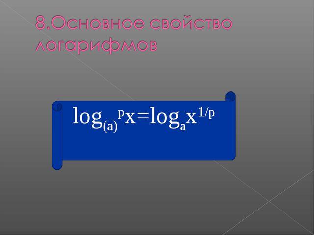 log(a)px=logax1/p