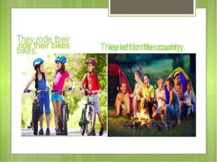 ride their bikes