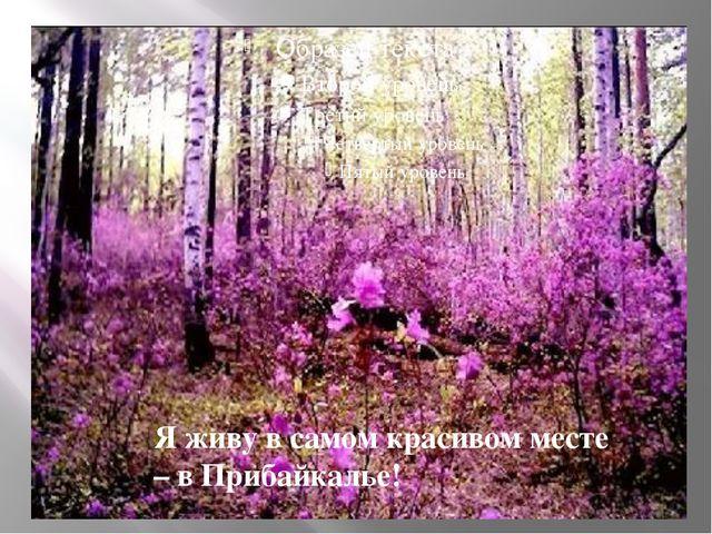 Я живу в самом красивом месте – в Прибайкалье!
