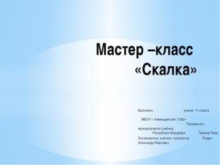 Выполнил : ученик 11 класса МБОУ » Хованщинская СОШ» Рузаевского муниципально
