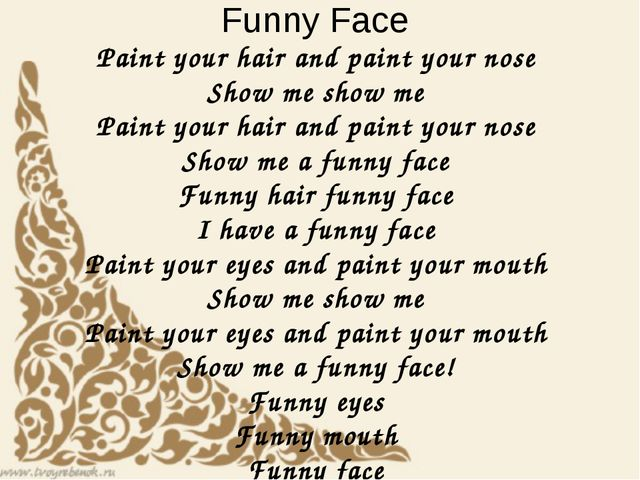 Funny Face Paint your hair and paint your nose Show me show me Paint your hai...
