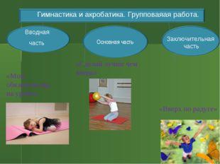 Можно Вводная часть Заключительная часть Гимнастика и акробатика. Групповаяая