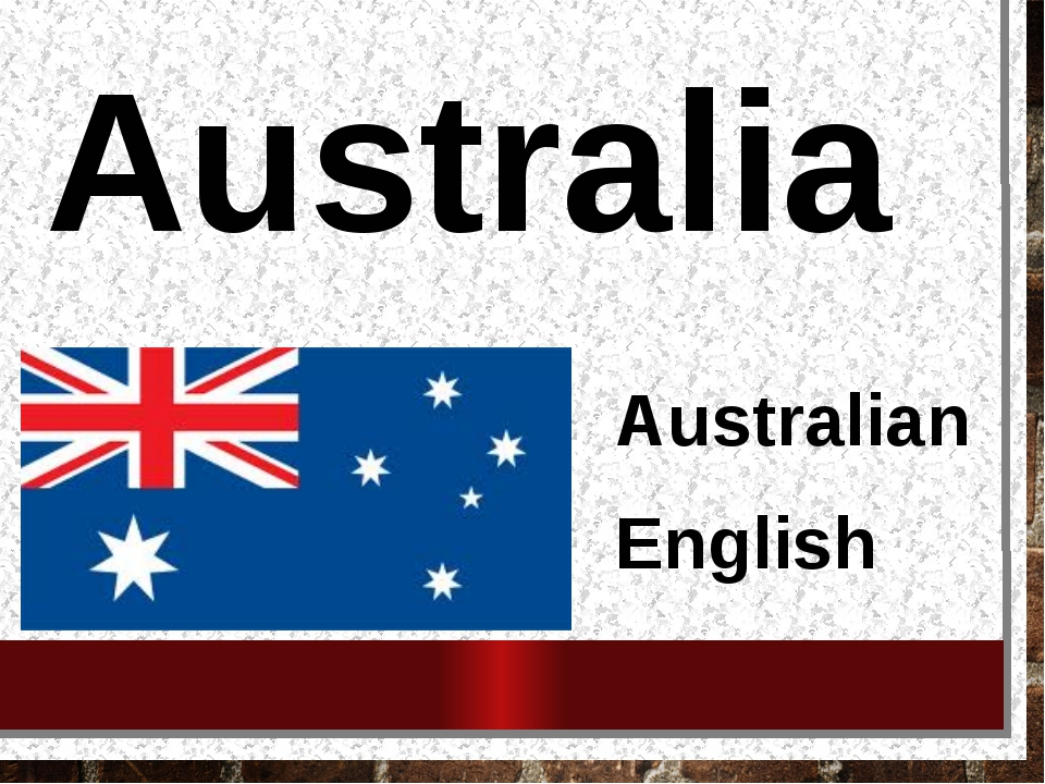 Australia Australian English