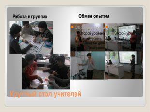 Круглый стол учителей Работа в группах Обмен опытом