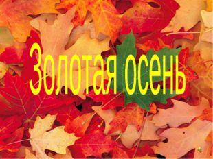 ДАРЫ ОСЕНИ